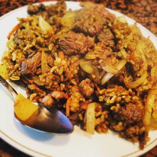 ドライ式カレー肉大盛り(ムーンライト )