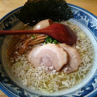 塩らーめん + 味付け玉子 ( 細麺 ・ こってり )(らーめん殿  三郷中央店)