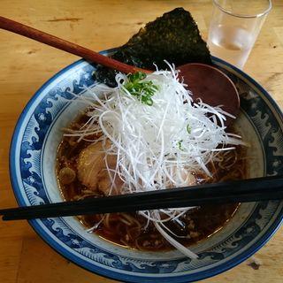 正油らーめん + ネギ ( 細麺 )(らーめん殿  三郷中央店)