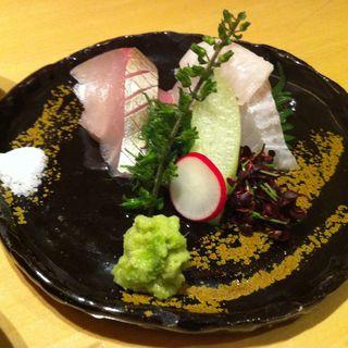 鮮魚の盛り合わせ(分とく山 飯倉片町)