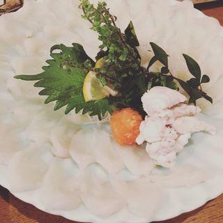 ふぐ刺し(魚米 新宿店)