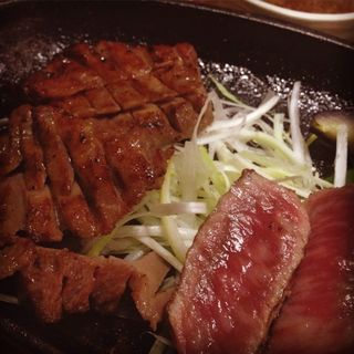 タン赤身盛り定食(炭焼牛たん東山 仙台本店 (【旧店名】 うまい牛たん東山))