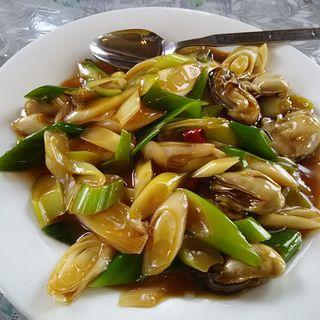 カキとネギ炒め(台湾料理 永旺 (タイワンリョウリ エイオウ))