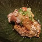肉厚どんこ椎茸の豚バラ巻焼き