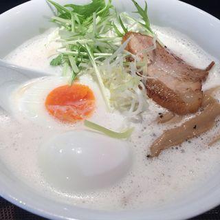 鳥白湯 大盛り 卵トッピング(麺屋 奏音)