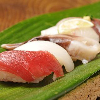 寿司の盛り合わせ(結庵)