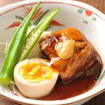 豚の角煮と卵