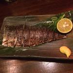 脂の乗った〆鯖炙り
