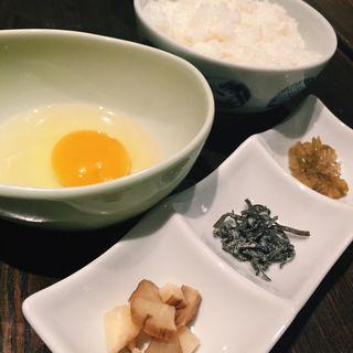 比内地鶏の玉子掛けご飯(ひない小町 渋谷店)
