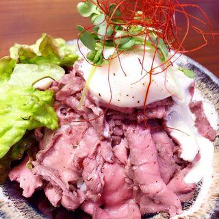 ローストビーフ丼(りょぞぶふ (ryozo beef))