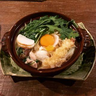 海老天鍋焼きおうどん(美糸 (ビイト))