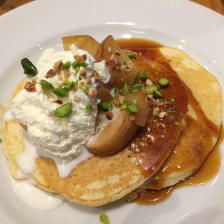 キャラメルアップルパンケーキ(ジェイエスパンケーキカフェ テラスモール湘南店 (j.s. pancake cafe))