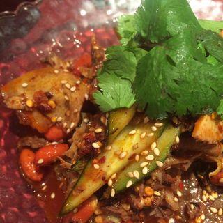 ハチノスと牛肉の辛味和え (湖南菜館)