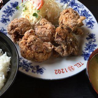 唐揚げ定食(八重食堂 )