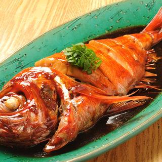 金目鯛の煮つけ(夜ばなし 旬魚季菜)