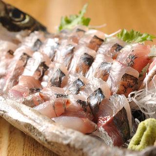 あじのタタキ(夜ばなし 旬魚季菜)
