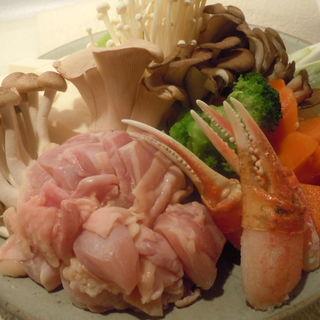 鶏肉と蟹の鍋