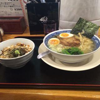 味玉天然塩ラーメン&まぶし飯セット(新宿めんや風花 本店 (しんじゅくめんやふうか))