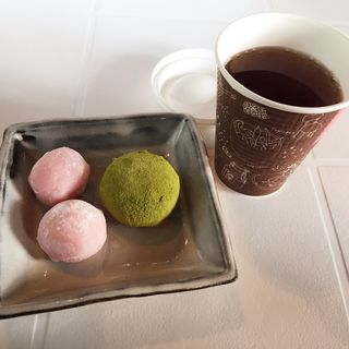 和菓子とほうじ茶セット(九州国立博物館 レストラン&オープンカフェ)