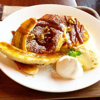 生キャラメルバナナパンケーキ(CAFE lx)