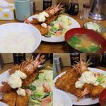 車海老・アジ・ホタテフライ定食(とんかつ八千代 (とんかつ・やちよ))