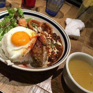 和風デミグラスソースのロコモコ(kawara CAFE&DINING 天王寺 (カワラ カフェアンドダイニング))