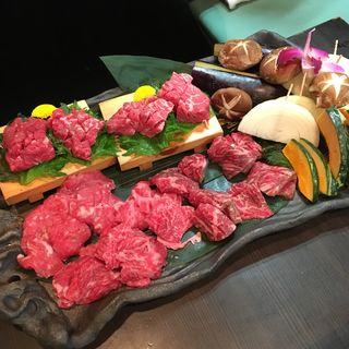 お肉の盛り合わせ(浪花焼肉 肉タレ屋)
