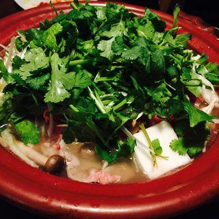 ラムしゃぶ (後) パクチー載せ(ラム&パクチー Salad days)