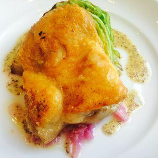 鶏もも肉のコンフィ粒マスタードソース(グリーングリル 渋谷店 (GREEN GRILL))