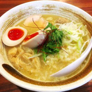 味玉入り濃厚鶏白湯そば(麺屋武一 (たけいち))