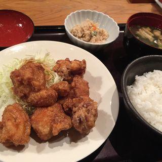 鶏の唐揚げ明太風味定食(やまや 梅田店 )