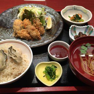 カキフライ定食(かき名庵)