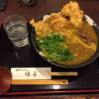 鶏天カレーうどん(手打ちうどん 団平 (だんぺい))