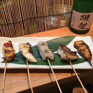 オススメ魚串五種盛り(串もん 西屋 (ニシヤ))