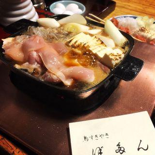 鳥すき焼き(ご飯、果物付)(ぼたん )