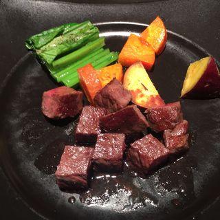 超熟成黒毛和牛フィレステーキランチ 100g(鉄板焼 宮地)