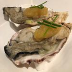 冷製広島産牡蠣の生食感コンフィ 青リンゴポン酢(1ピース)
