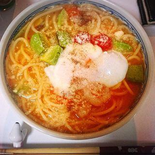 トマト豆乳スープパスタ(カポナータ (【旧店名】イタリア厨房 カポナータ))