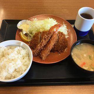 海老・ロースカツ定食(かつや 海老名店)