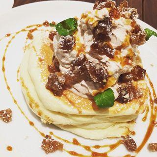 マロンクリームのリコッタパンケーキ(高倉町珈琲 みなみ野店 )