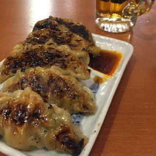 手作り焼き餃子(兜町 もつ千 (カブトチョウ モツセン))