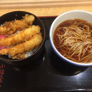 上天丼セット(ゆで太郎代々木東口店)
