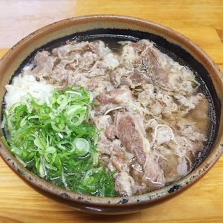 肉そば(天ぷらうどん)