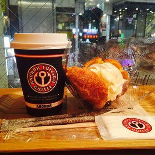 ポップオーバー ハニークリームチーズ(フルセイルコーヒー  一番町店 )