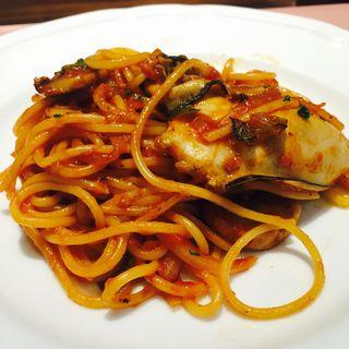 牡蠣のナポリタンスパゲティー(ハーフ)(厳選洋食 さくらい)