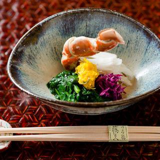 タラバガニと野菜のお浸し(藤久 (ふじきゅう))