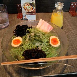 グリーンベジ冷麺(ソラノイロ Japanese soup noodle free style 本店)