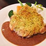 若鶏もも肉の香草パン粉焼き デミグラスマスタードソース