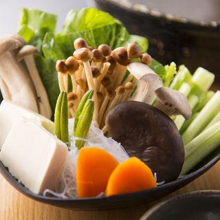 温野菜の盛り合わせ(銀座しゃぶ通 好の笹 (ぎんざしゃぶつう よしのささ))