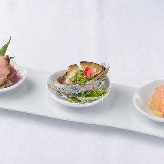 おまかせ3種盛り(中国料理 XVIN (イクスヴァン 【旧店名】シェンロングランデ))